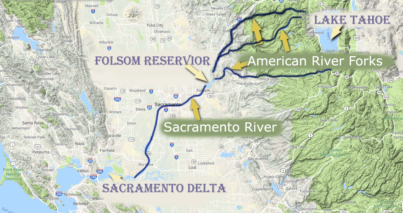Larger Watersheds - American River